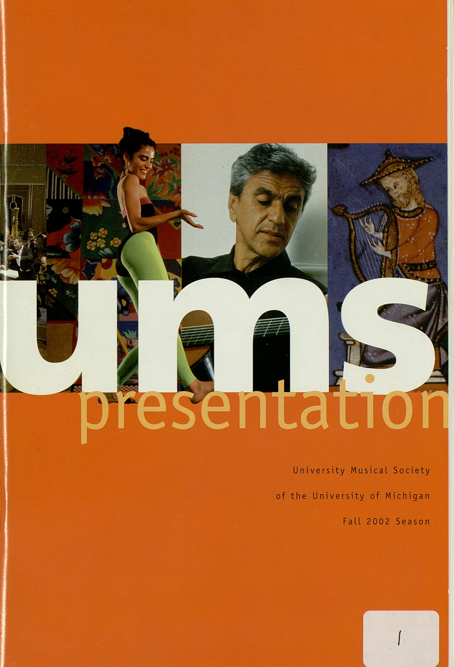 UMS Concert Program, Friday Sep. 20 To Oct. 09: University Musical Society: Fall 2002 - Friday Sep. 20 To Oct. 09 --  image
