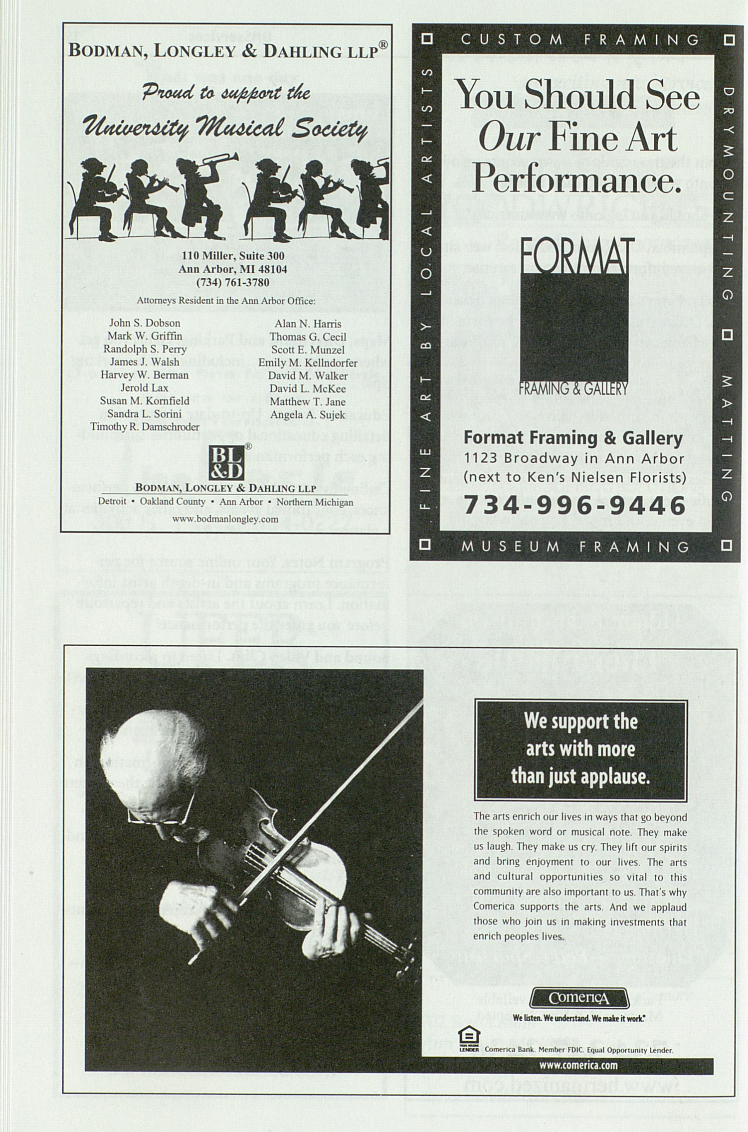 UMS Concert Program, Friday Dec. 05 To 07: University Musical Society: Fall 2003 - Friday Dec. 05 To 07 --  image