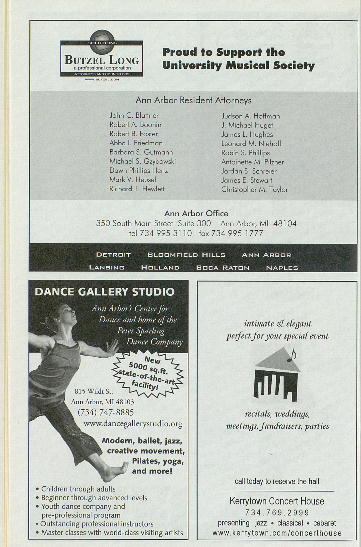 UMS Concert Program, Thursday Apr. 01 To 15: University Musical Society: Winter 2004 - Thursday Apr. 01 To 15 --  image