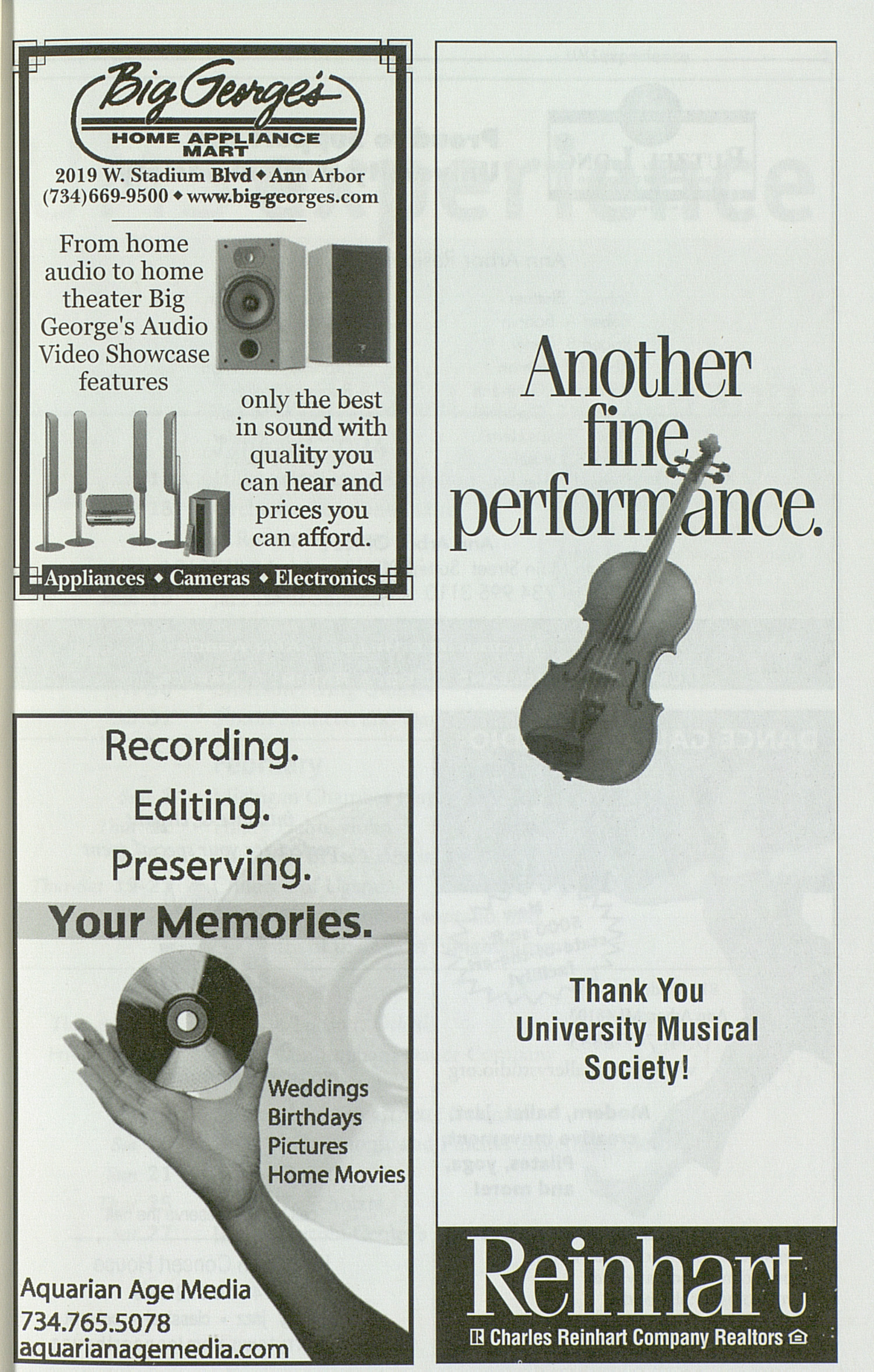 UMS Concert Program, Friday Apr. 16 To 24: University Musical Society: Winter 2004 - Friday Apr. 16 To 24 --  image