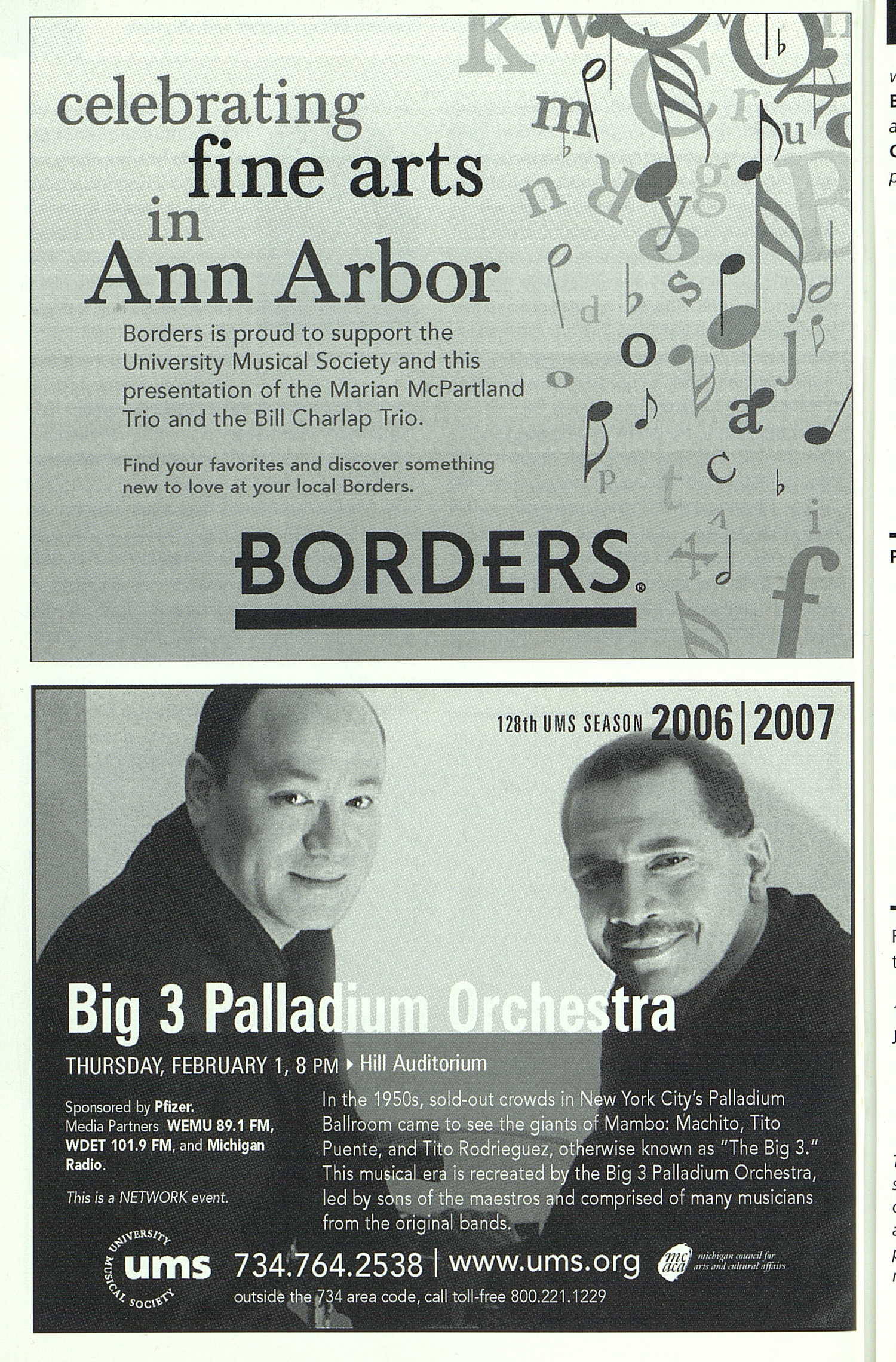 UMS Concert Program, Thursday, Sep. 21 To Oct. 07: University Musical Society: Fall 2006 - Thursday, Sep. 21 To Oct. 07 --  image