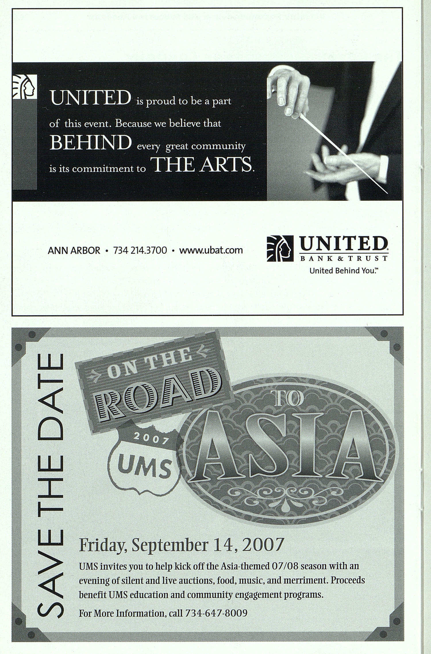 UMS Concert Program, May 12, 2007: 2007 Ford Honors Gala -- Mstislav Rostropovich image