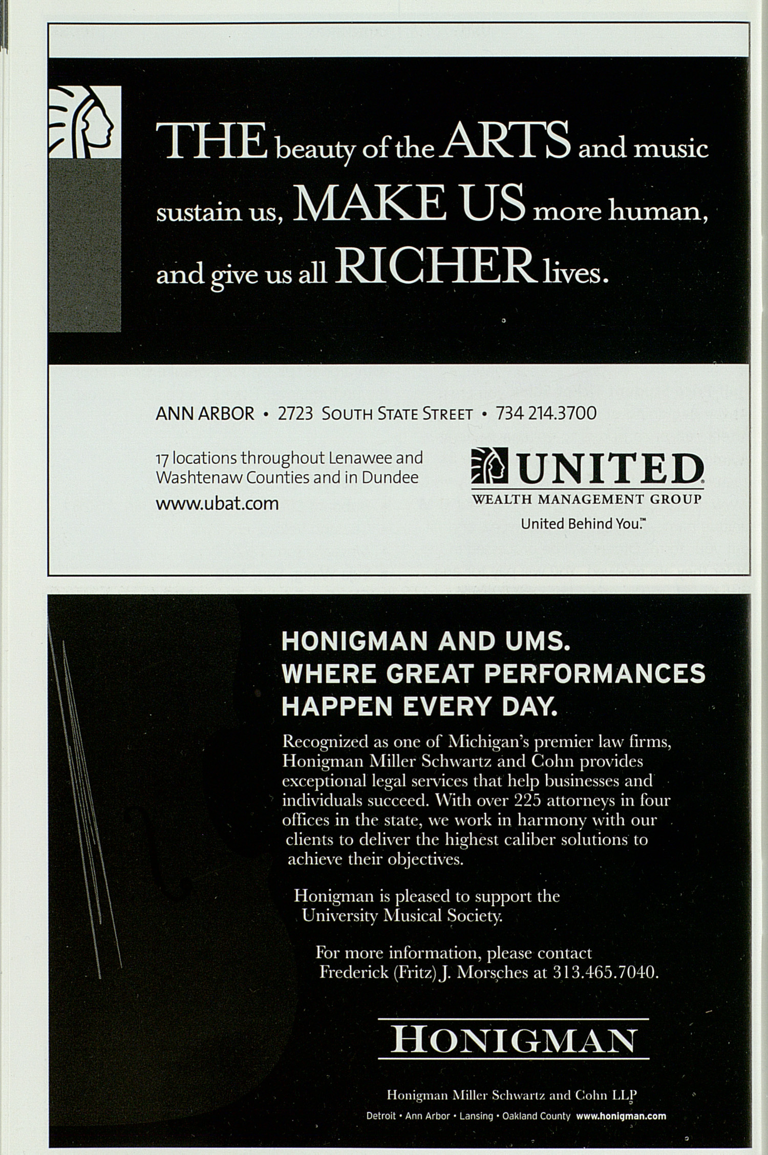UMS Concert Program, Thursday Nov. 08 To 18: University Musical Society: Fall 2007 - Thursday Nov. 08 To 18 --  image