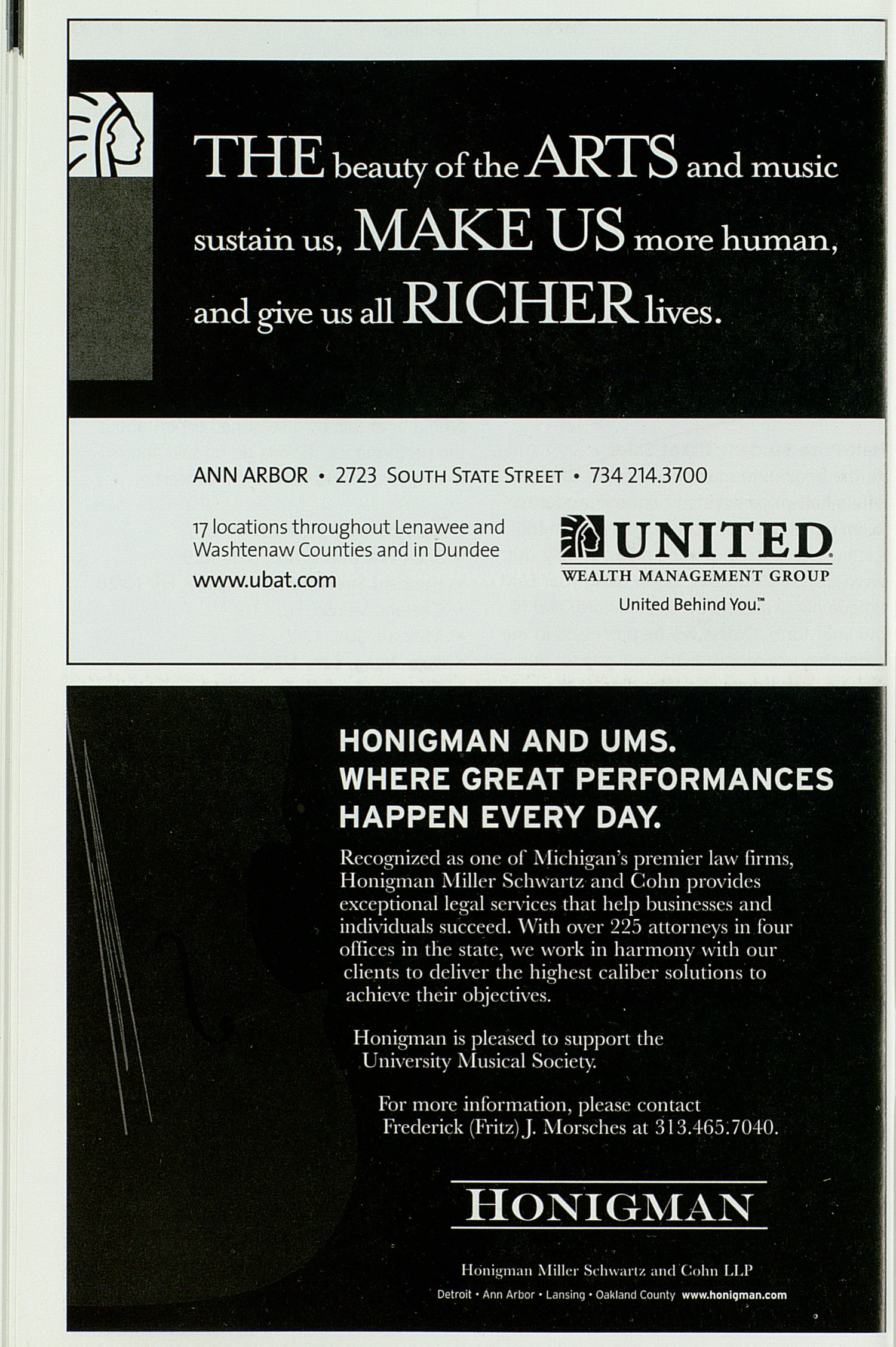 UMS Concert Program, Saturday Dec. 01 To Jan. 04: University Musical Society: Fall 2007 - Saturday Dec. 01 To Jan. 04 --  image