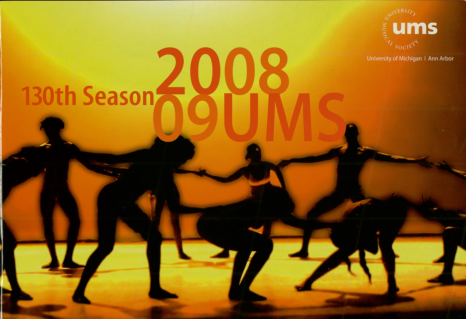 UMS Concert Program, : University Musical Society: 2008/09 --  image