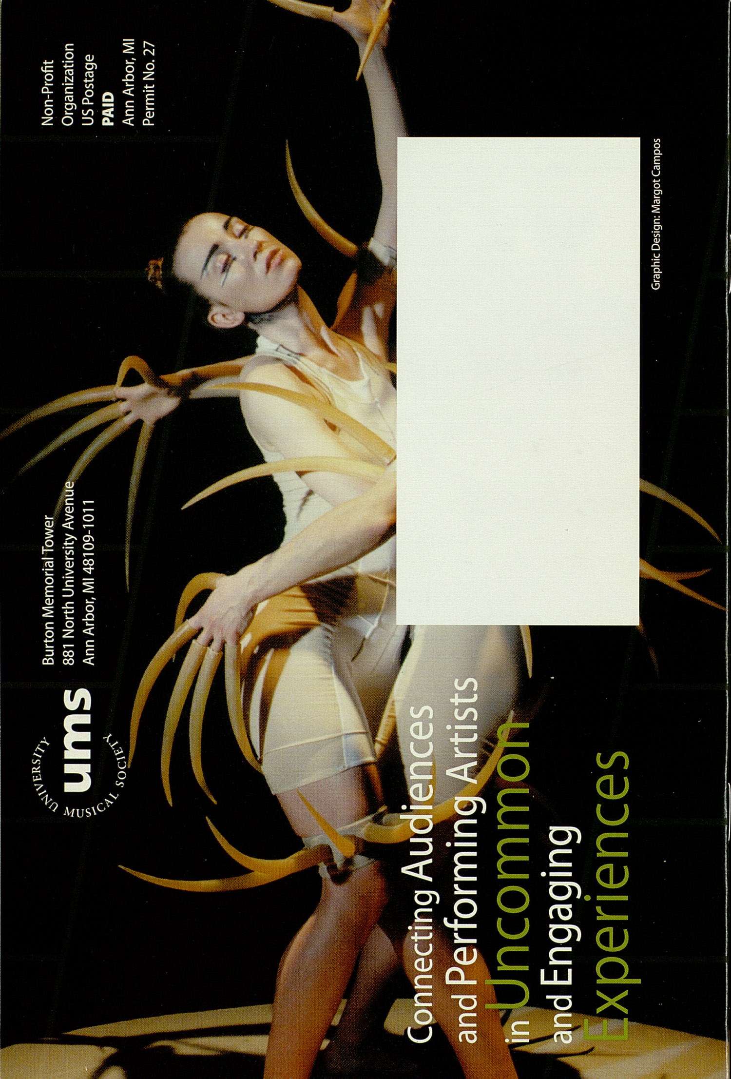 UMS Concert Program, : Ums Dance And Theater --  image