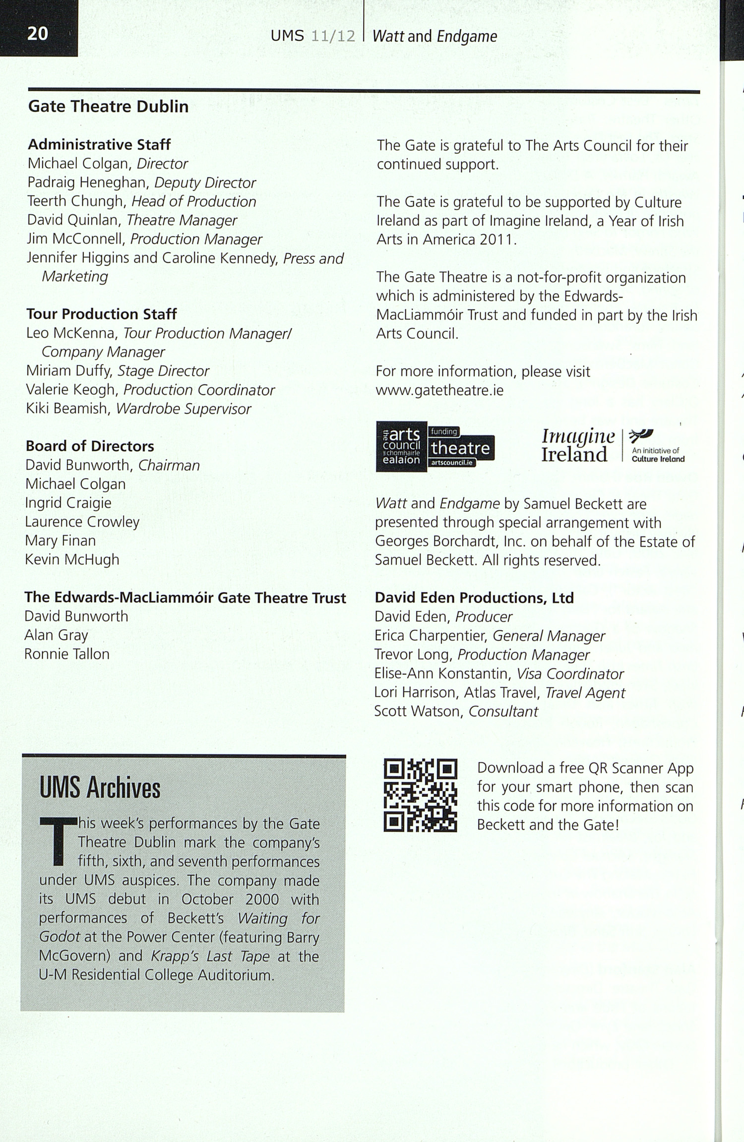 UMS Concert Program, Thursday Oct. 27 To Nov. 05: University Musical Society: Fall 2011 - Thursday Oct. 27 To Nov. 05 --  image