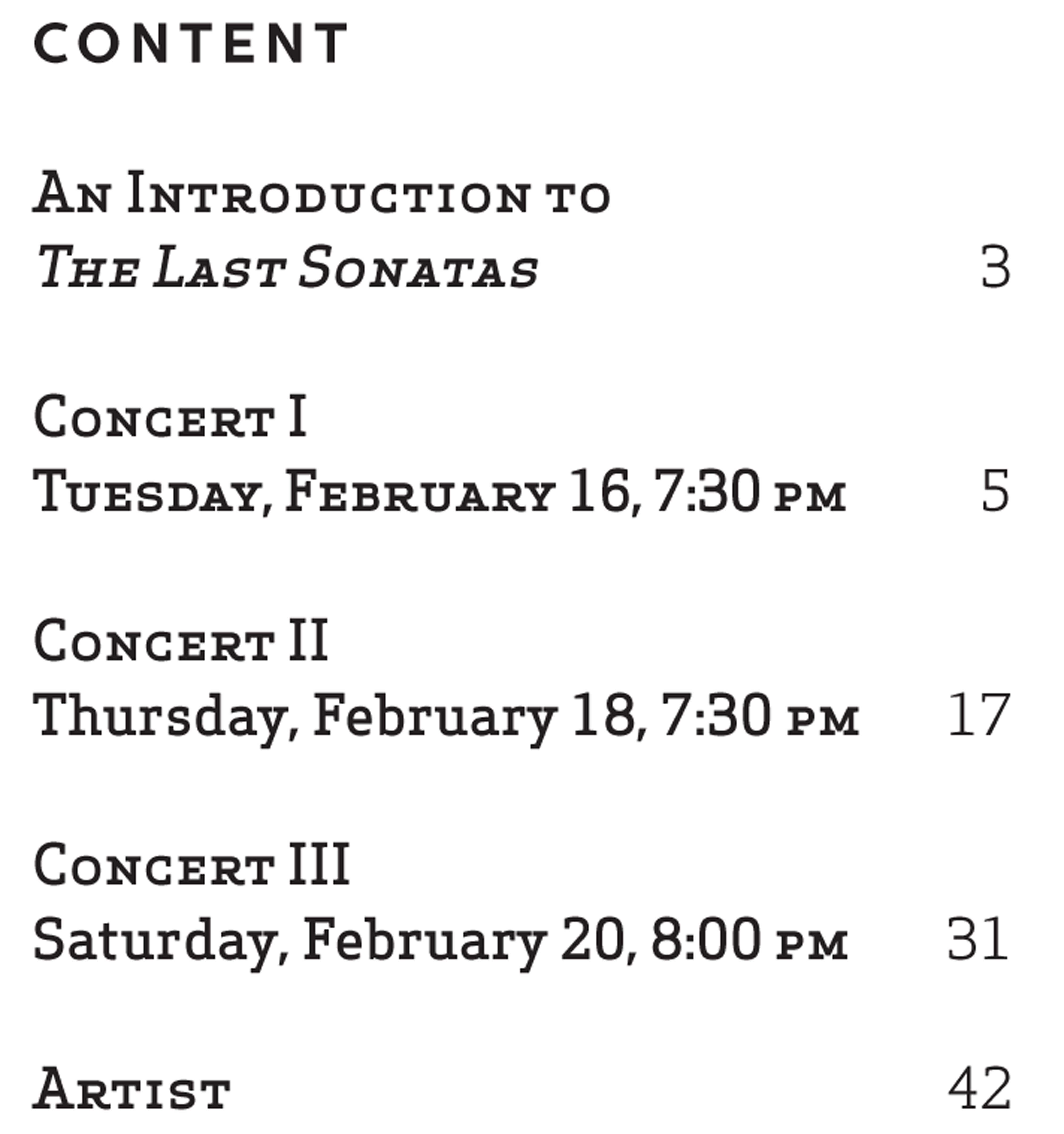 UMS Concert Program, February 16-18, 2016 - Sir András Schiff The Last Sonatas image