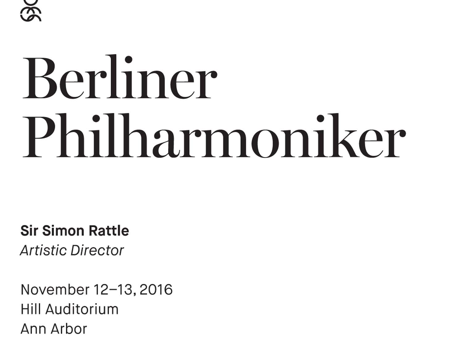 UMS Concert Program, November 12, 2016 - November 13, 2016 - Berliner Philharmoniker image