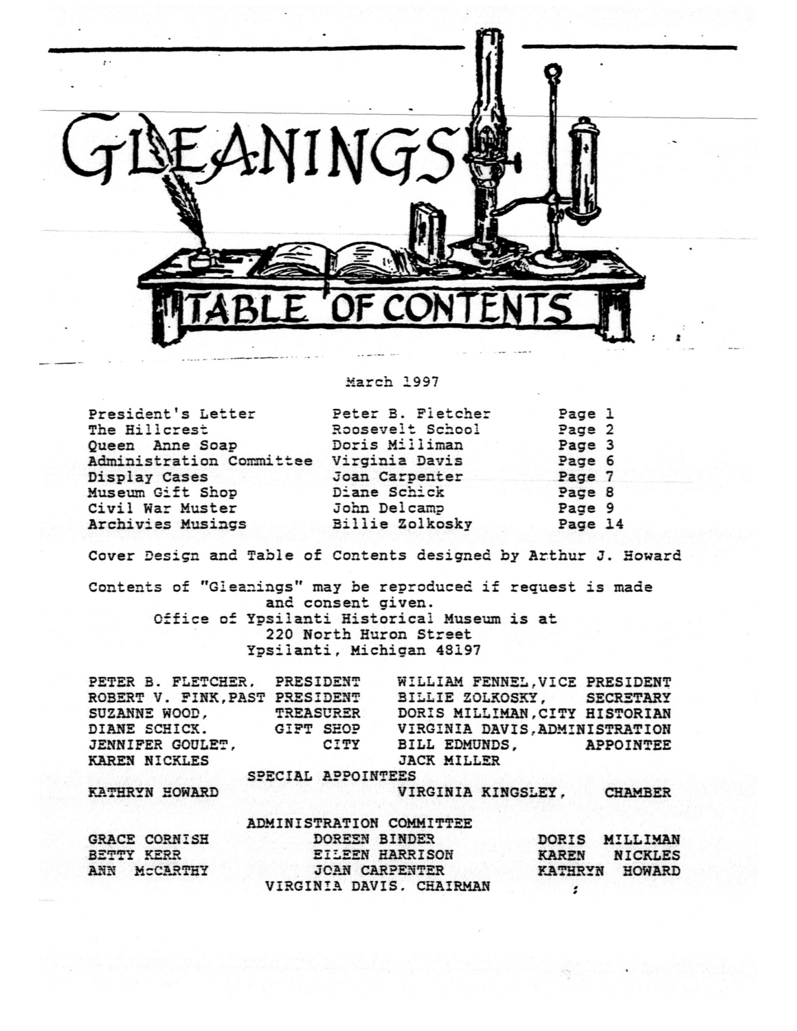 Ypsilanti Gleanings, March 1997 image