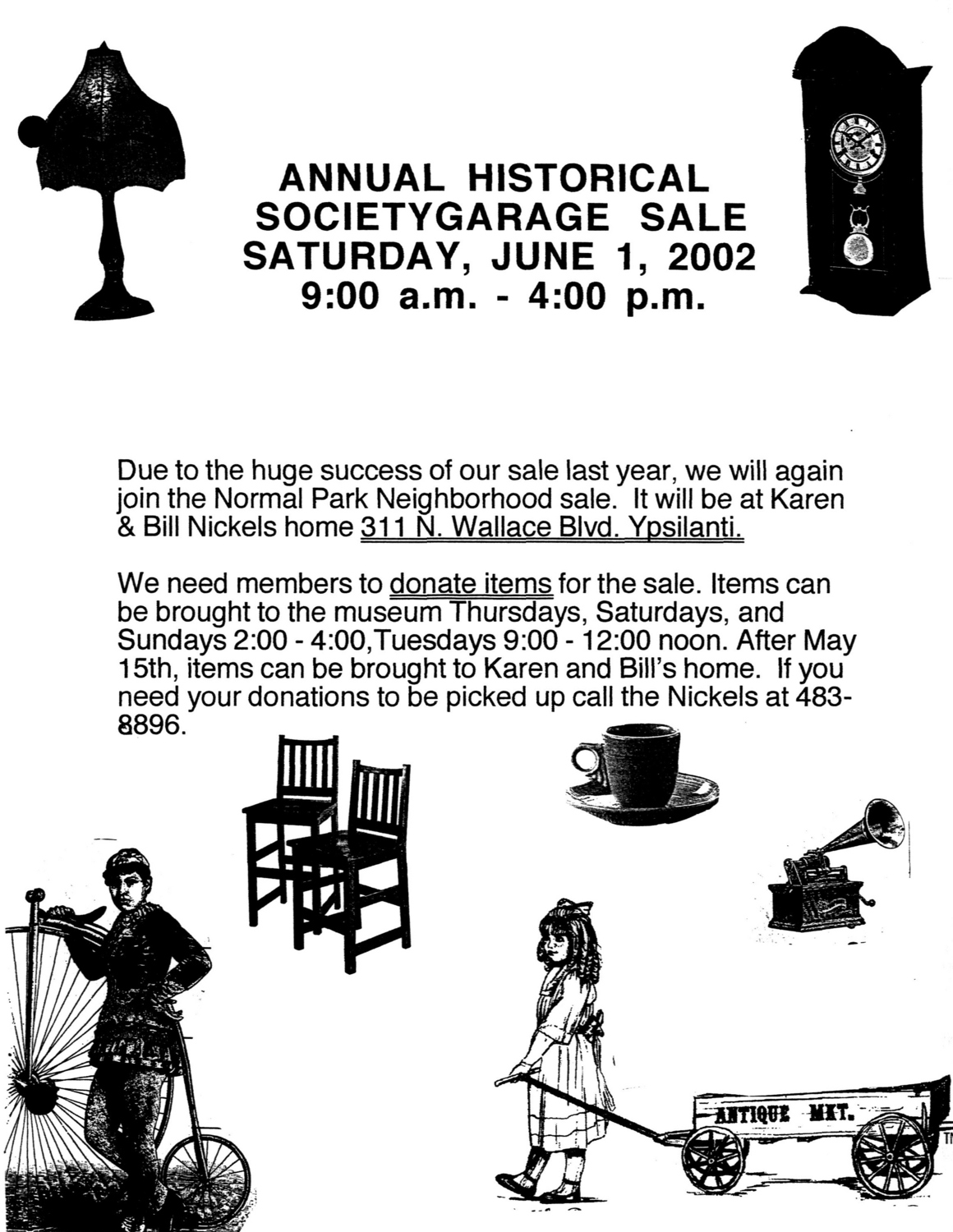 Annual Historical Society Garage Sale Ann Arbor District Library