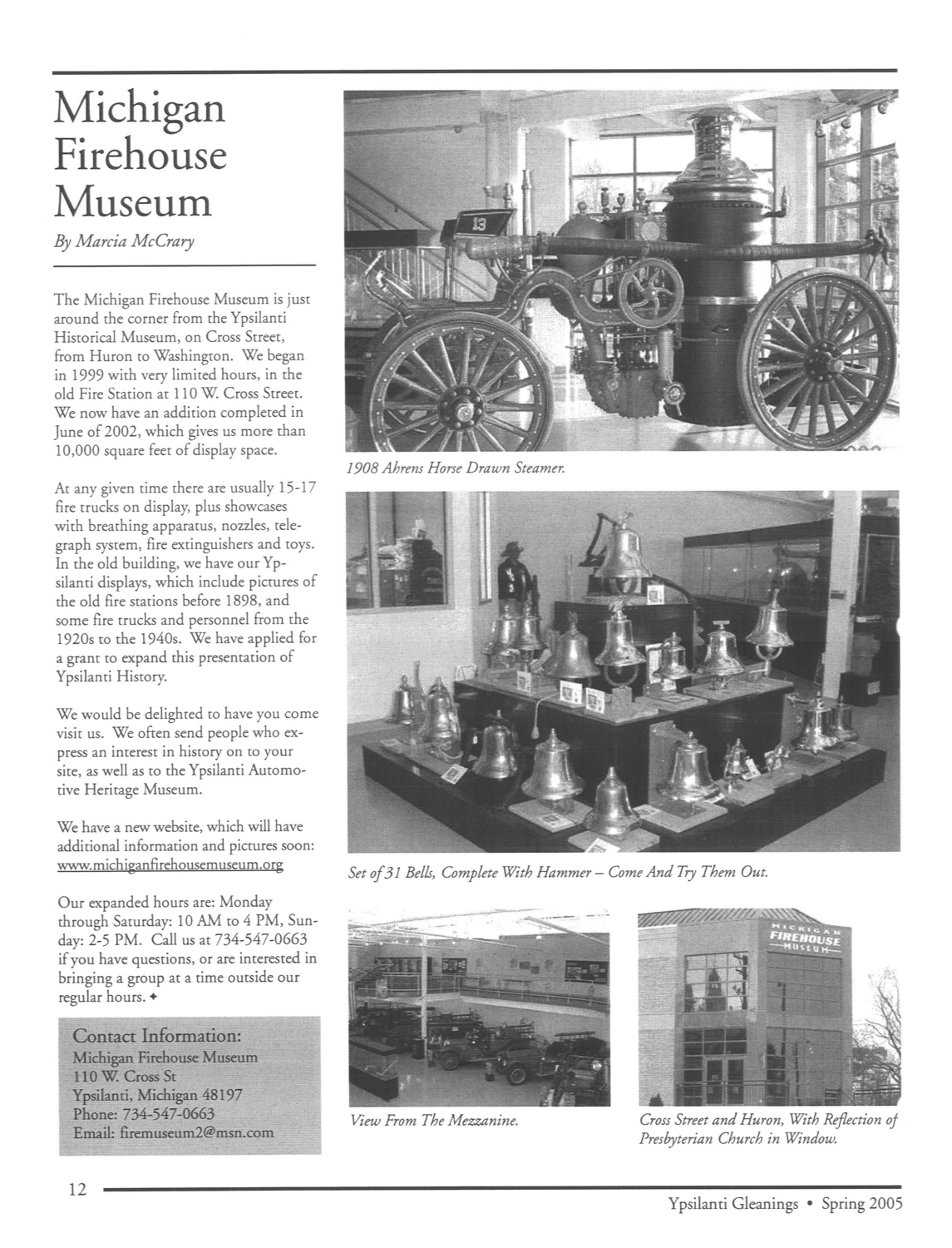 Michigan Firehouse Museum image