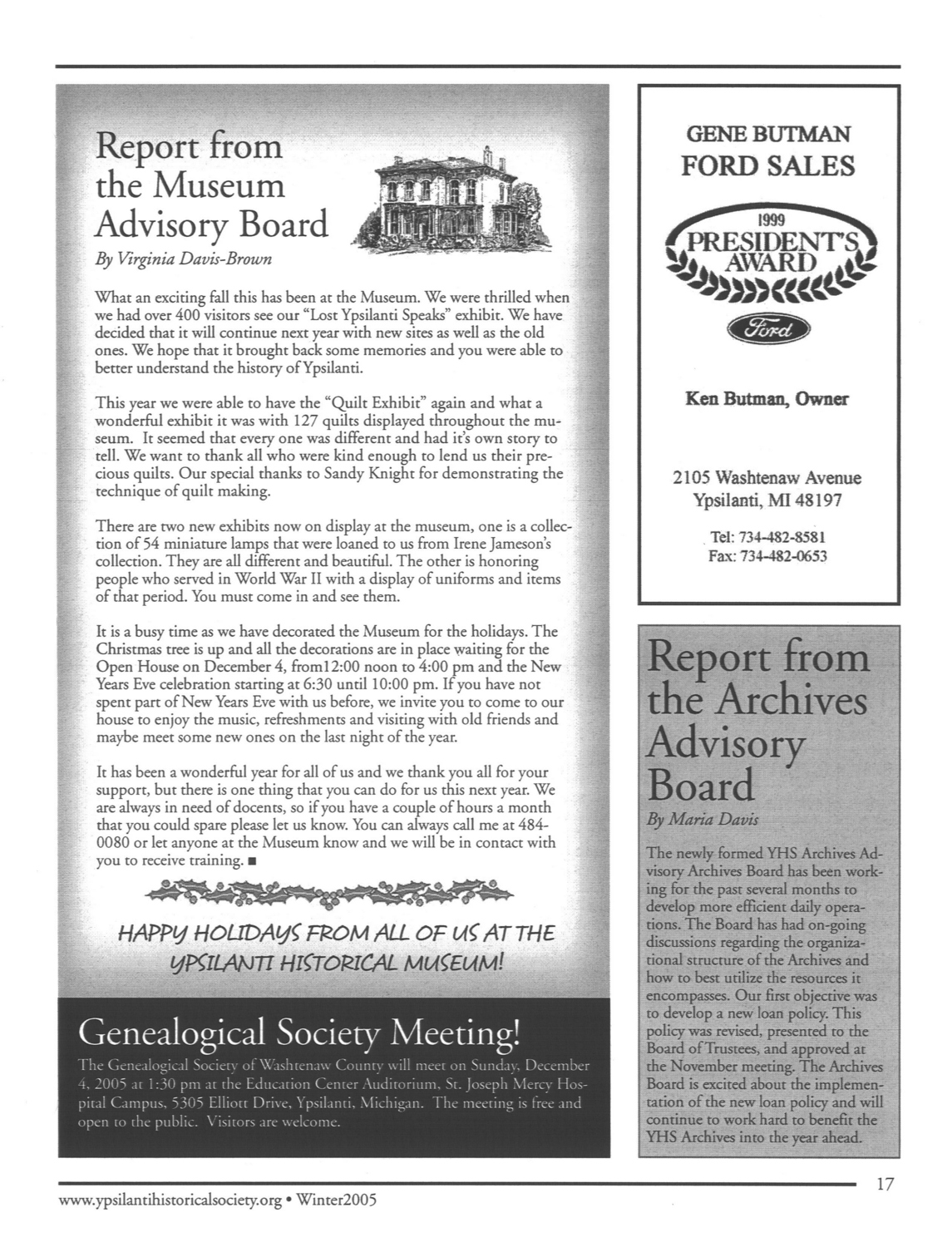 Report from the Museum Advisory Board image