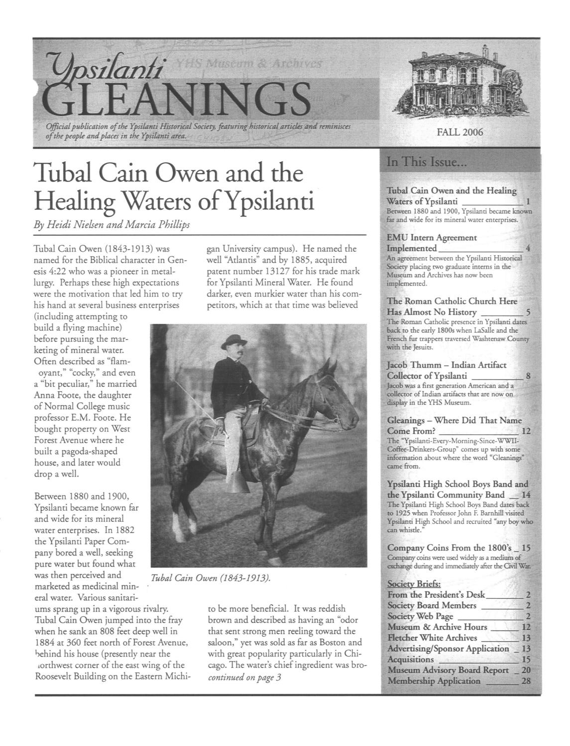 Ypsilanti Gleanings, Fall 2006 image