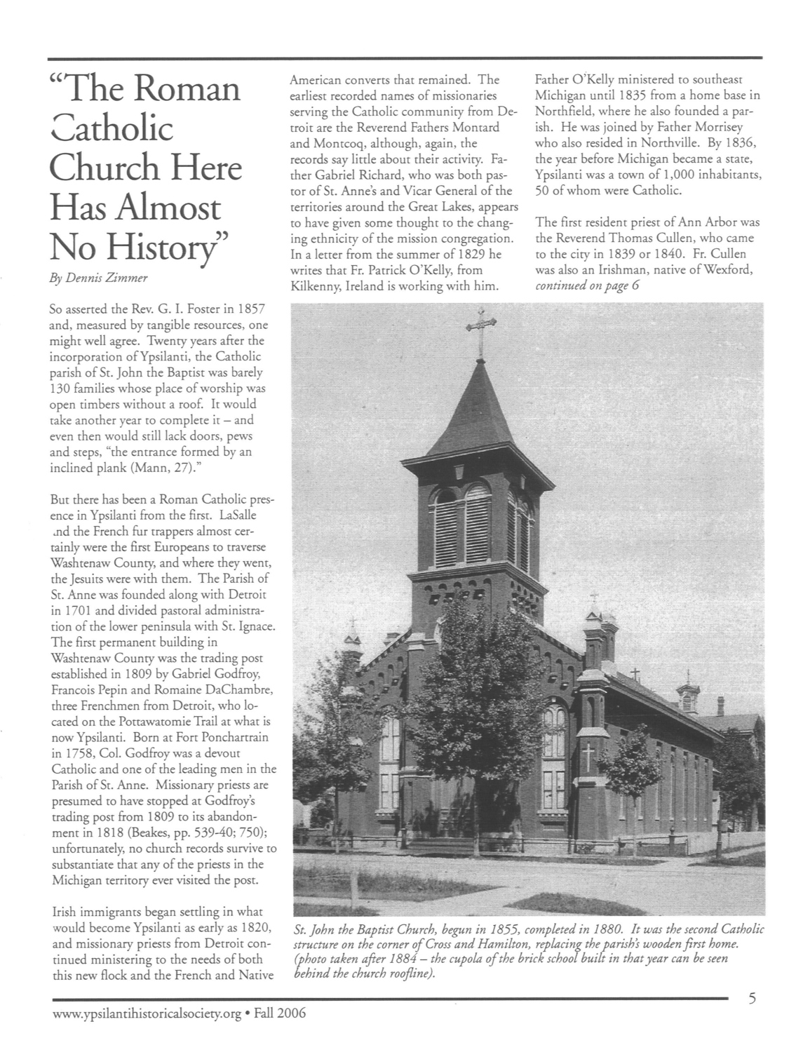 """The Roman Catholic Church Here Has Almost No History"" image"