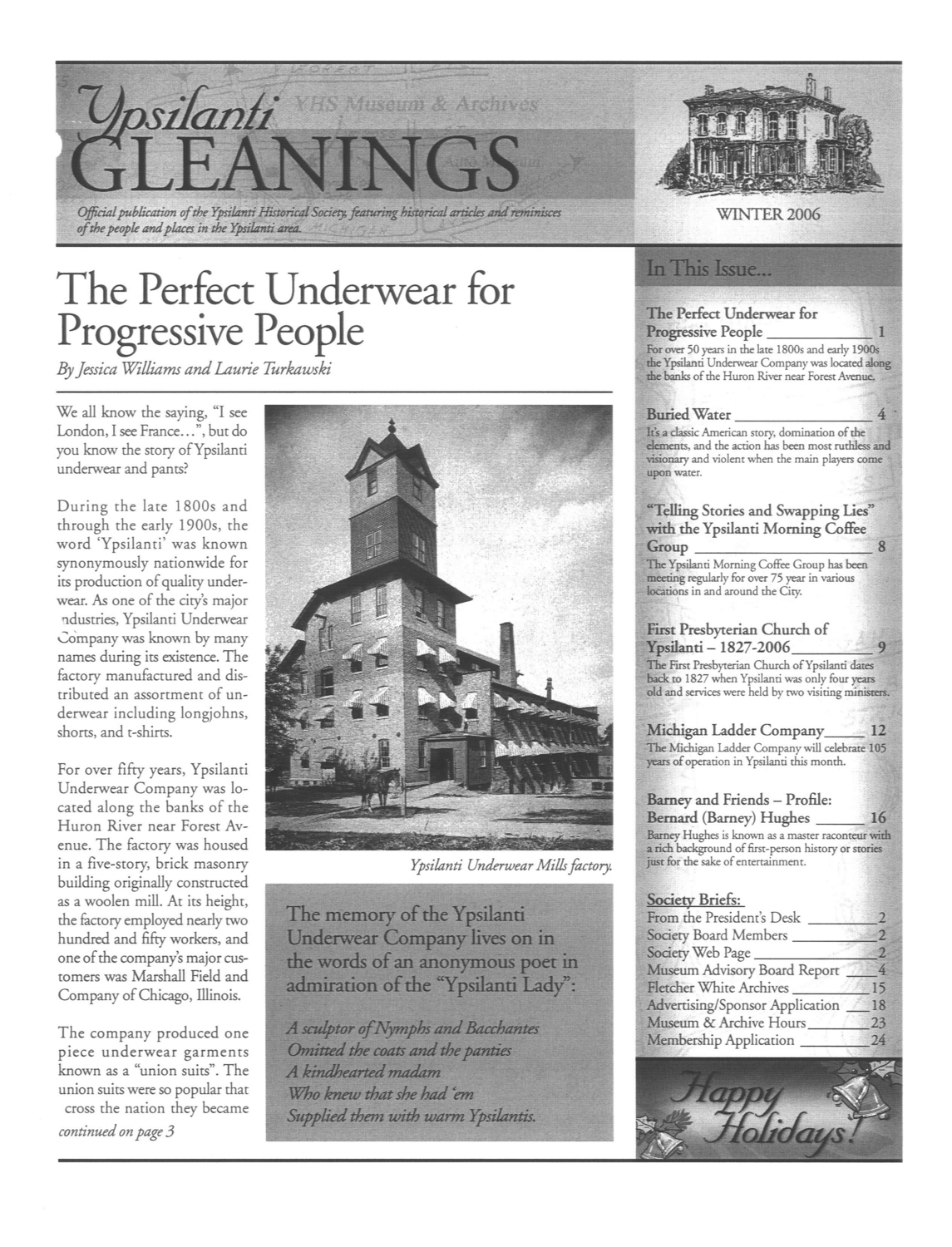 Ypsilanti Gleanings, Winter 2006 image