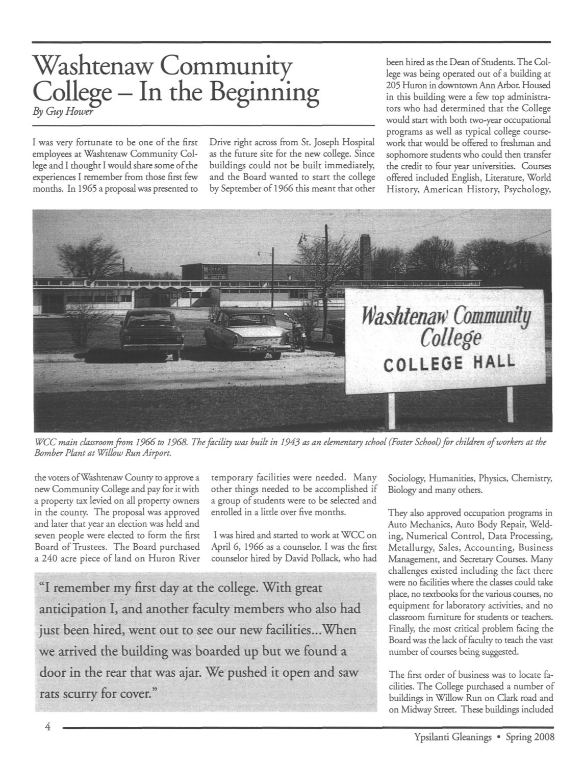 Washtenaw Community College-In the Beginning image