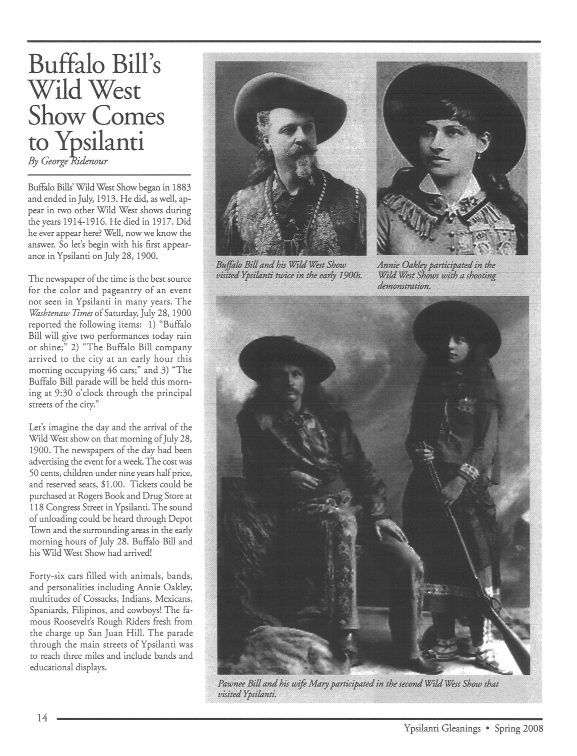 Buffalo Bill's Wild West Show Comes to Ypsilanti image