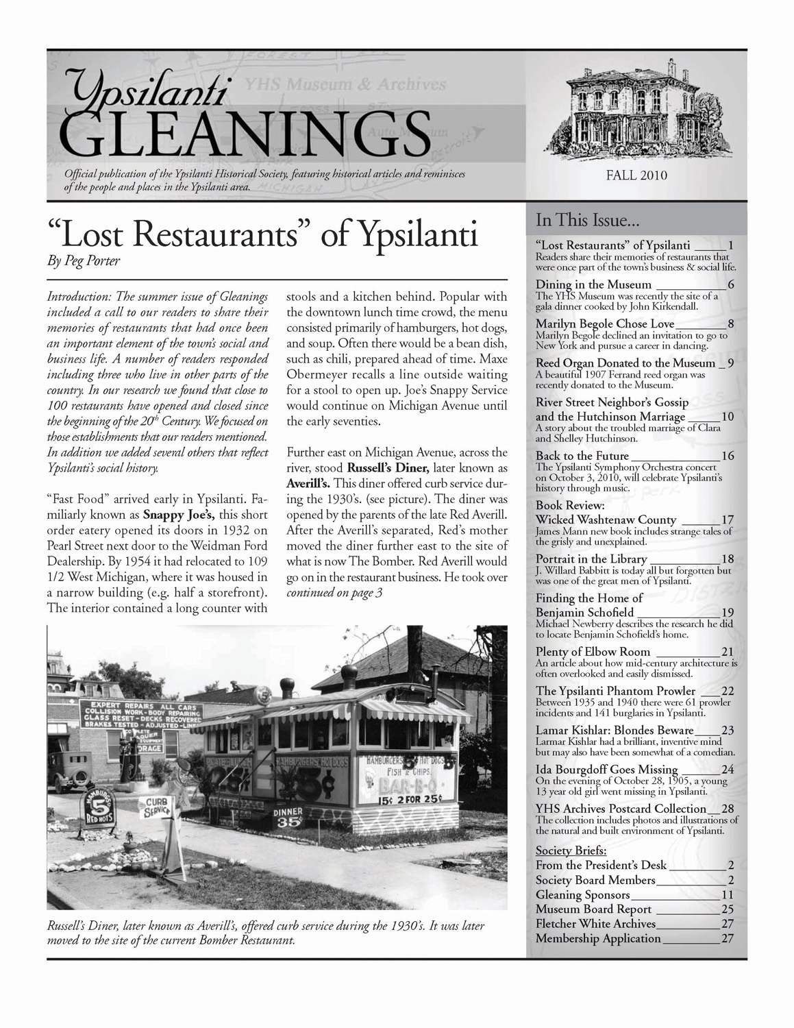"""Lost Restaurants"" of Ypsilanti image"