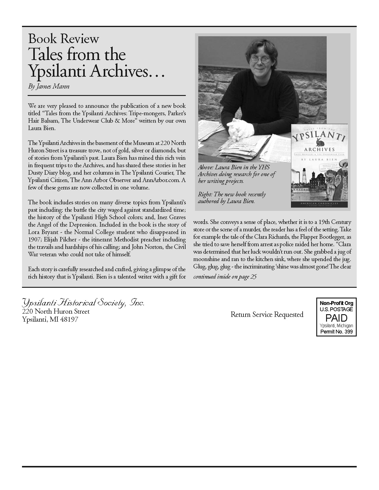 Book Review: Tales from the Ypsilanti Archives image
