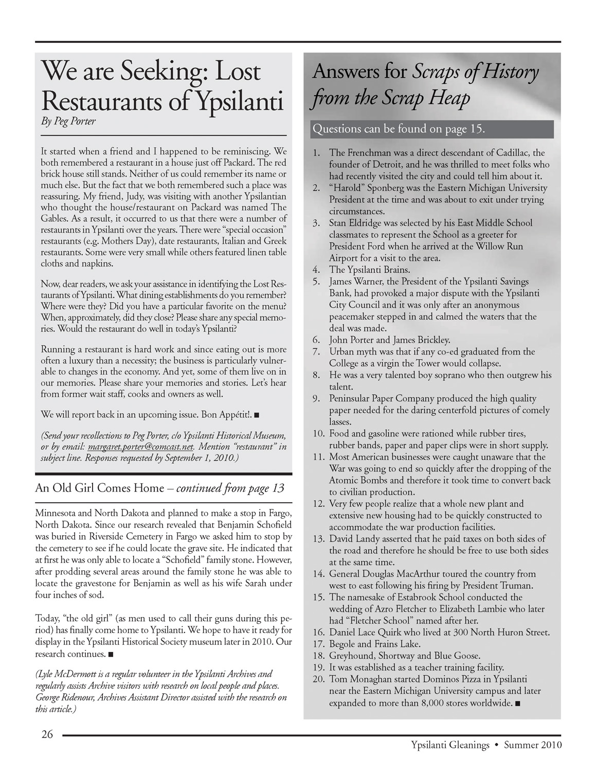We are Seeking: Lost Restaurants of Ypsilanti image