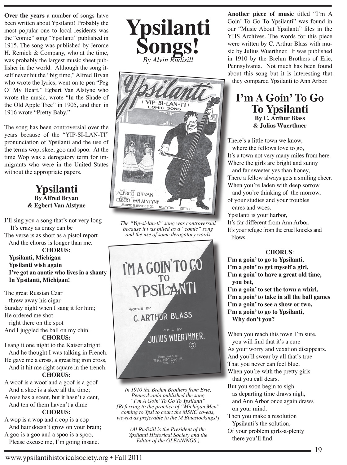 Ypsilanti Songs!  image