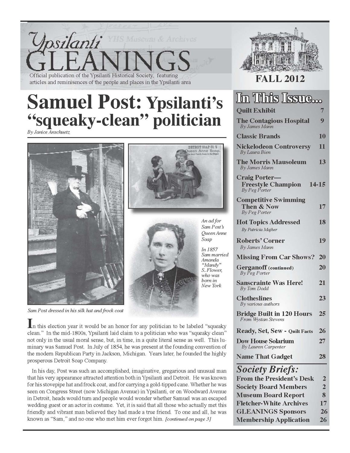 "Samuel Post: Ypsilanti's ""Squeaky Clean"" Politician image"
