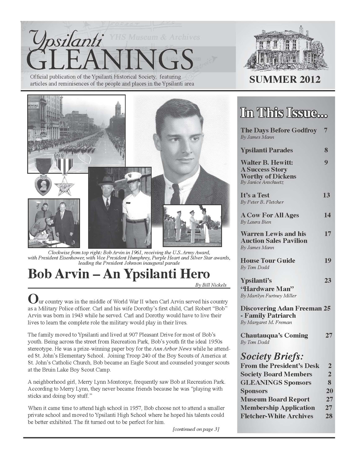 Ypsilanti Gleanings, Summer 2012 image