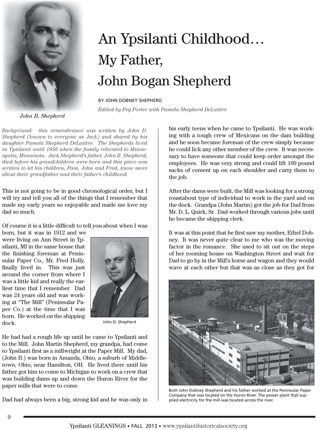 An Ypsilanti Childhood…My Father, John Bogan Shepherd image