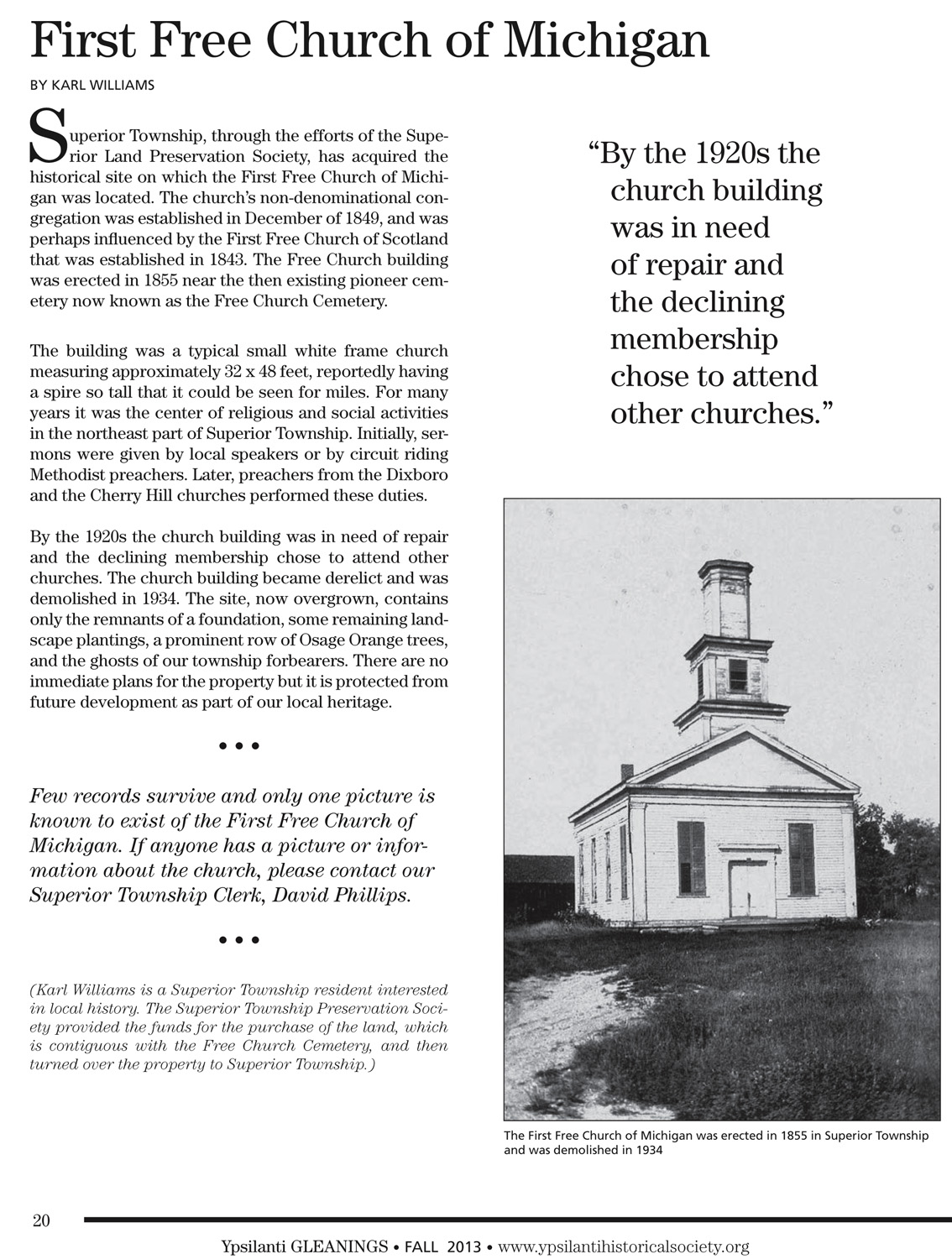 First Free Church of Michigan image