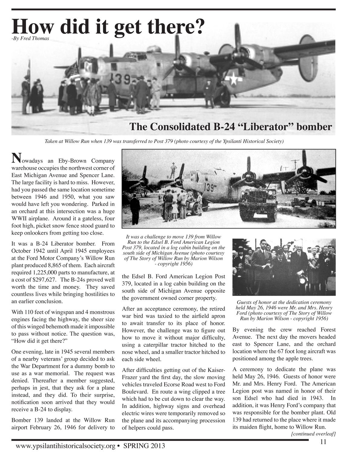 "How did it get there? The Consolidated B-24 ""Liberator"" bomber image"