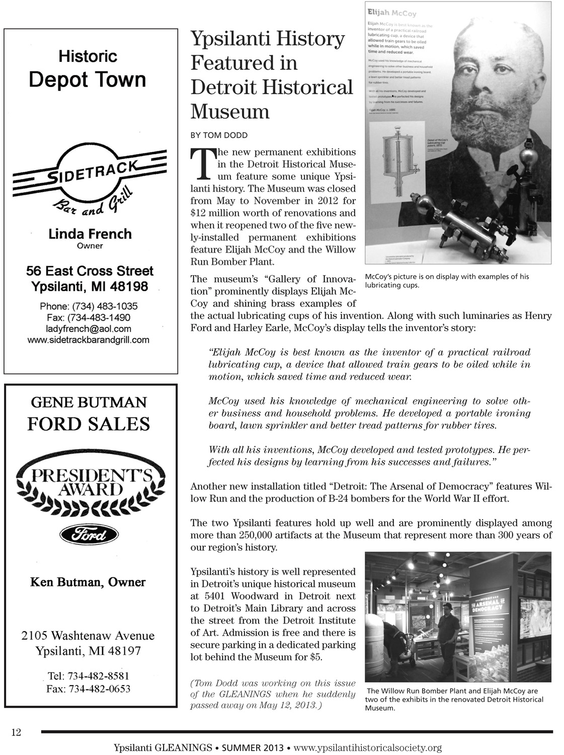 Ypsilanti History Featured in Detroit Historical Museum image