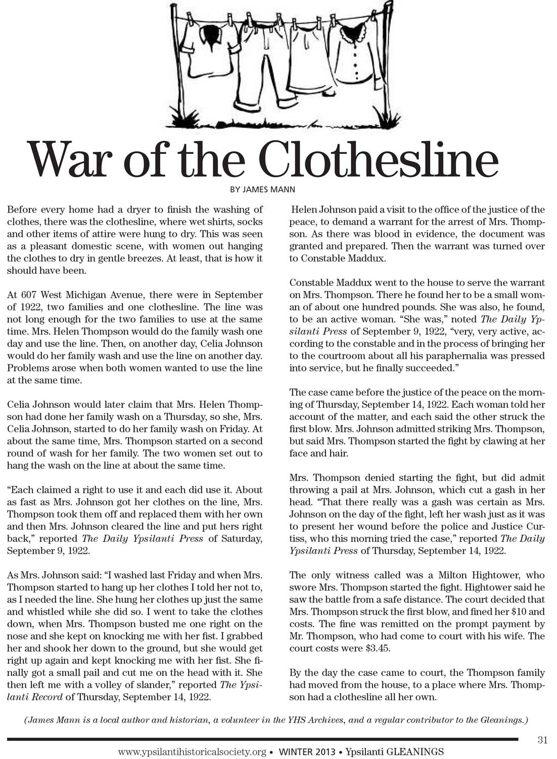 War of the Clothesline image