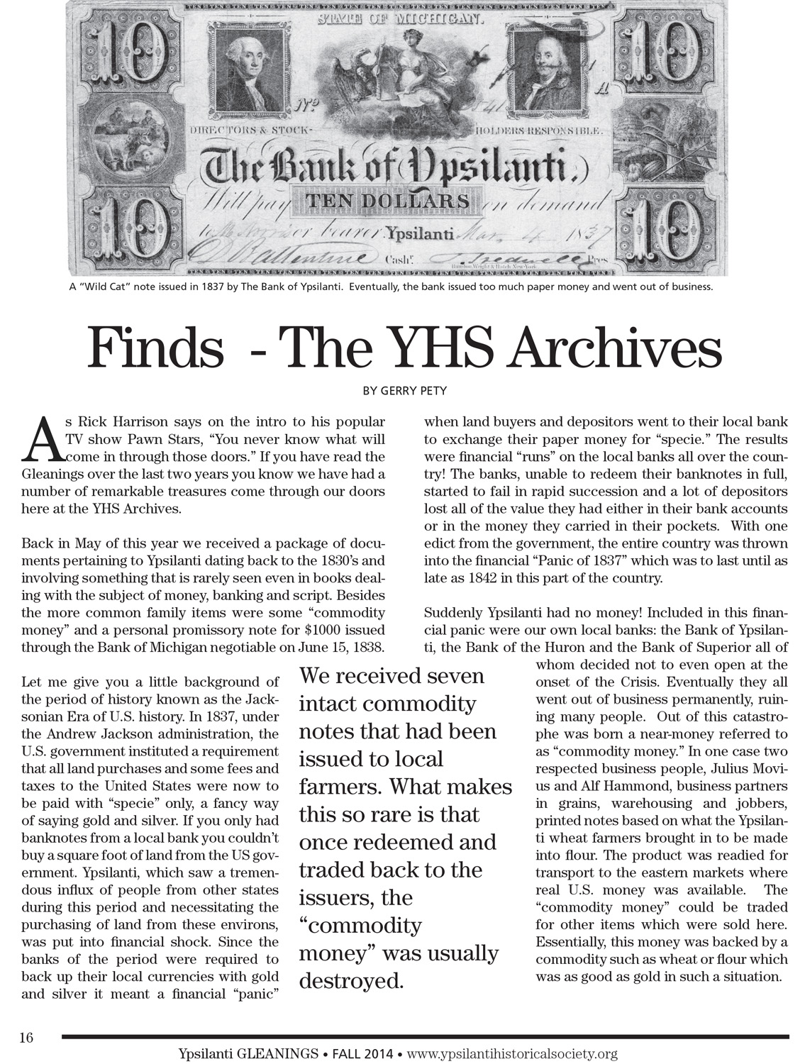 Finds  - The YHS Archives image