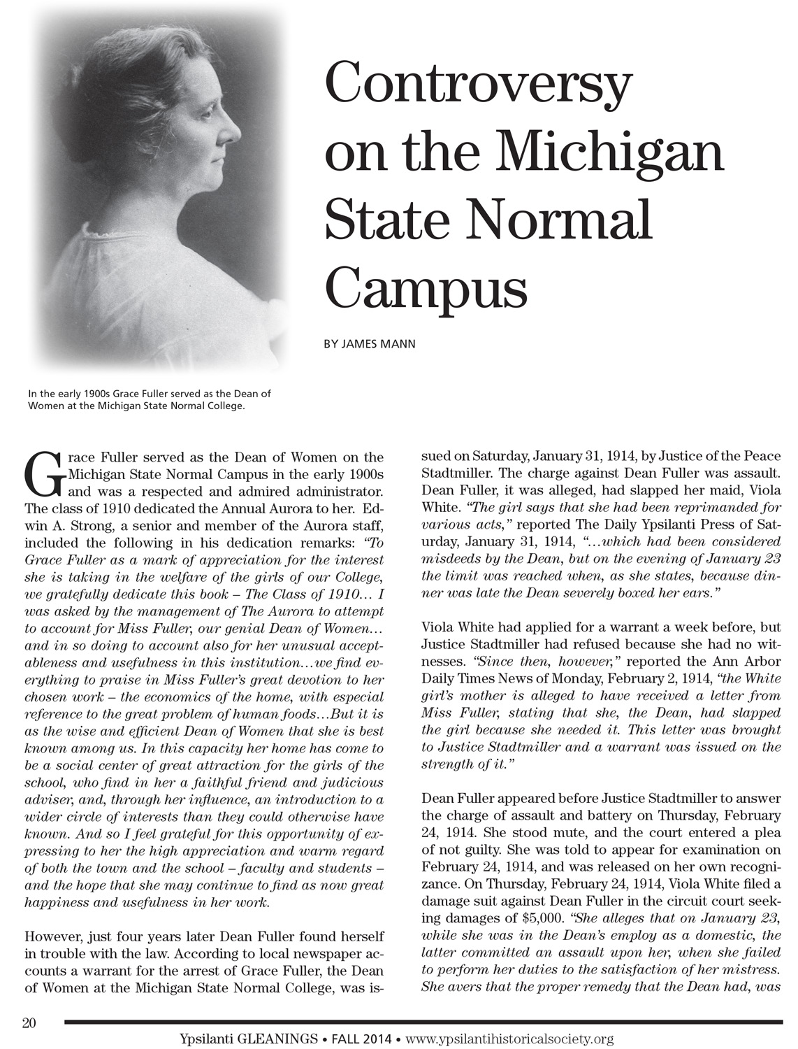 Controversy on the Michigan State Normal Campus image