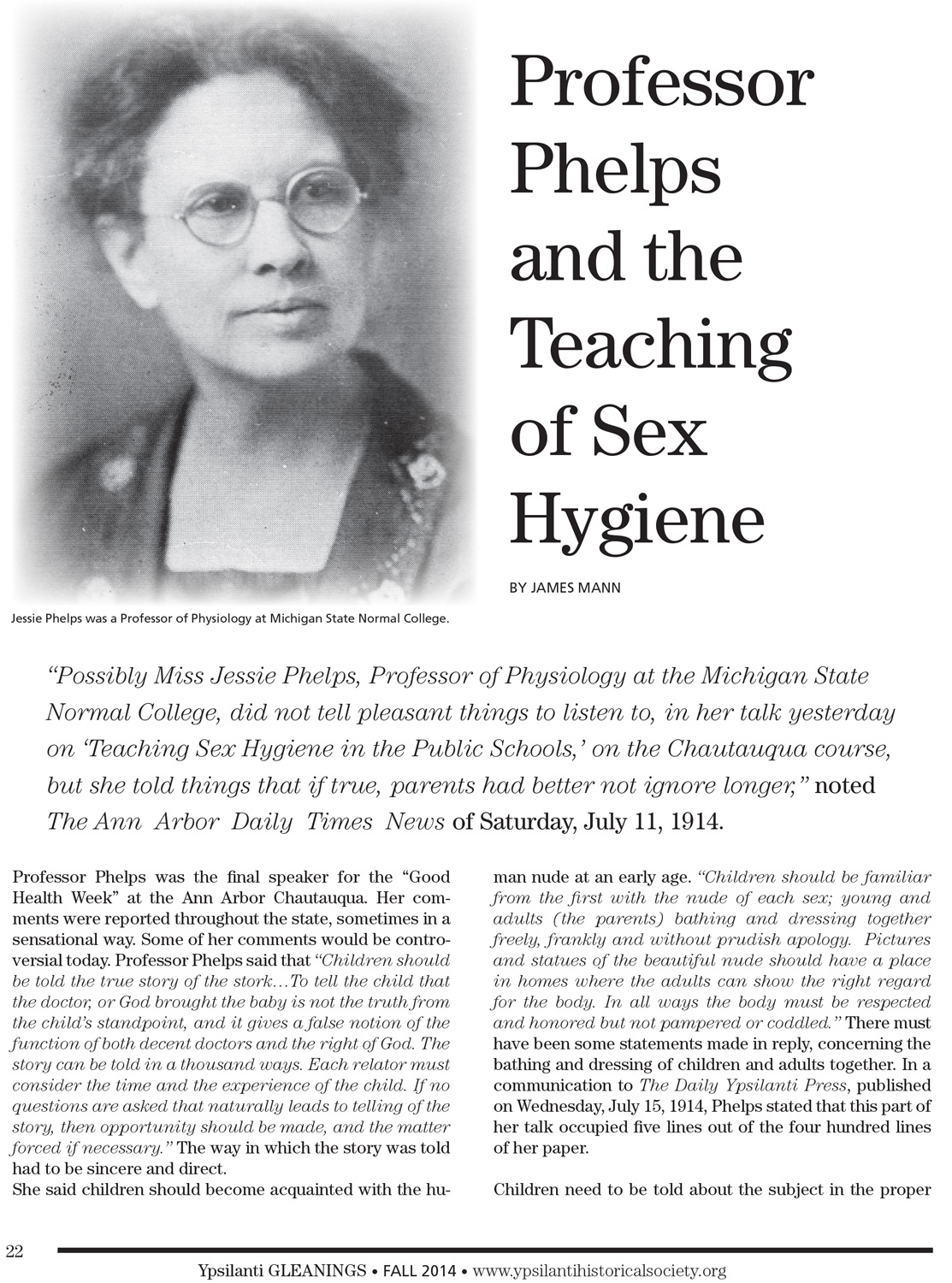 Professor Phelps and the Teaching of Sex Hygiene image