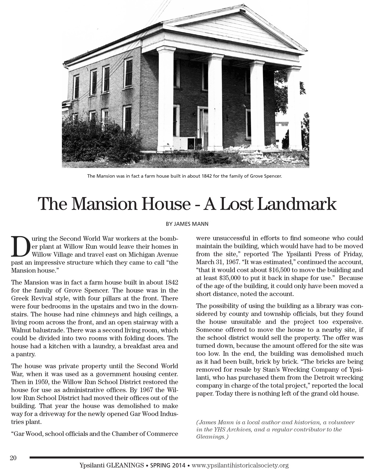 The Mansion House - A Lost Landmark image