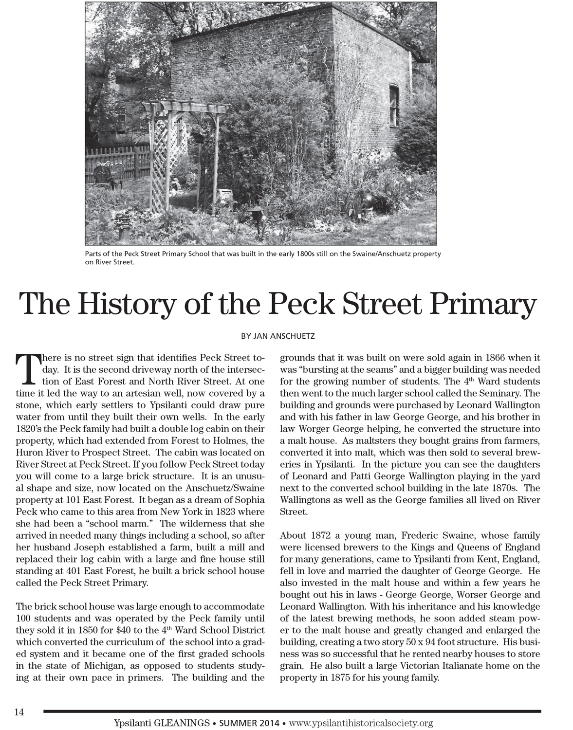 The History of the Peck Street Primary image
