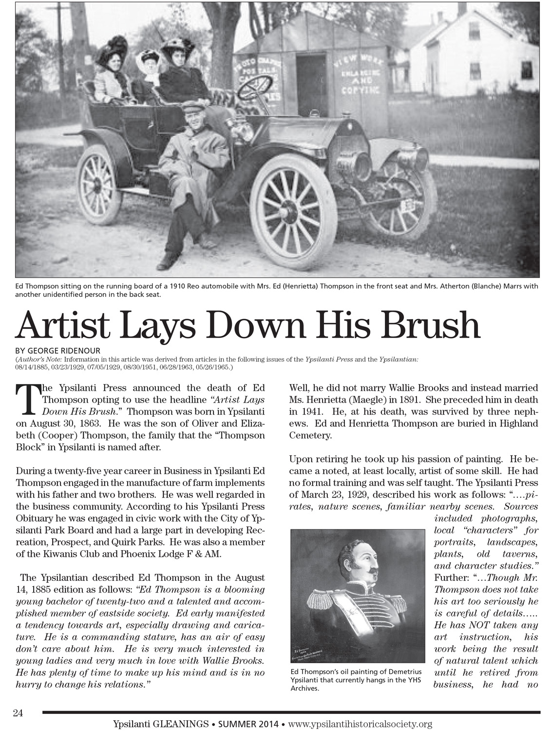 Artist Lays Down His Brush image