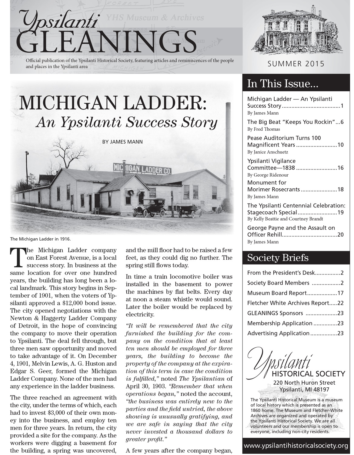 Michigan Ladder: An Ypsilanti Success Story image