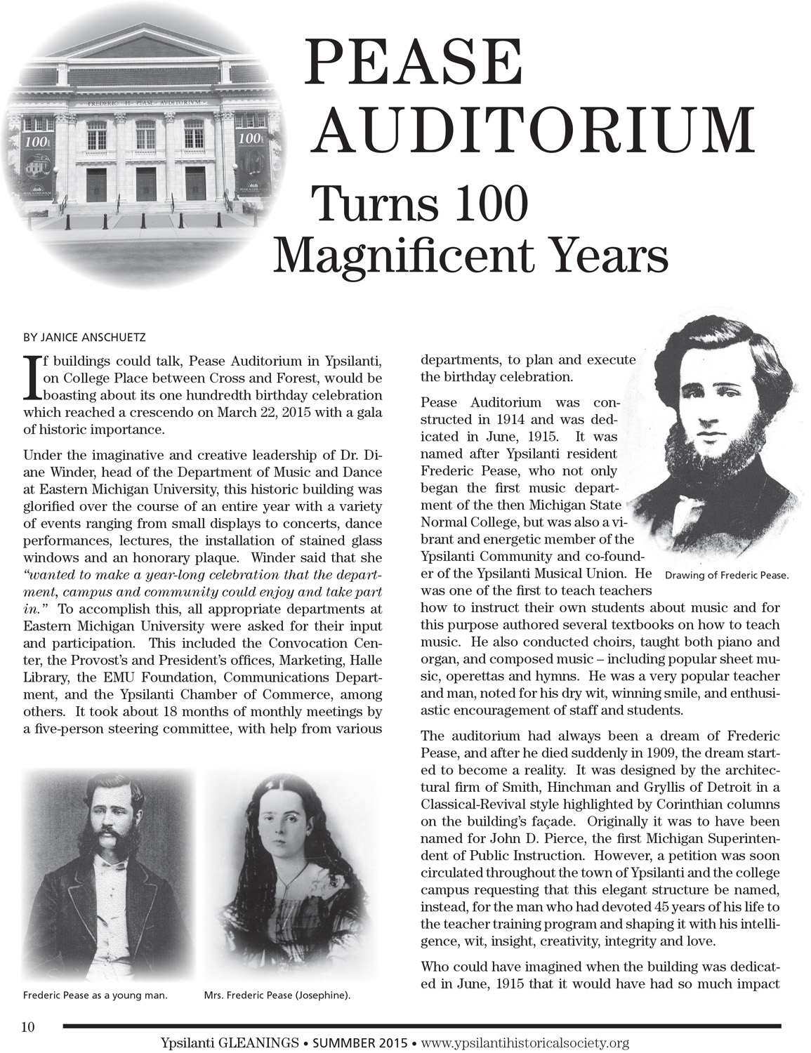 Pease Auditorium Turns 100 Magnificent Years image