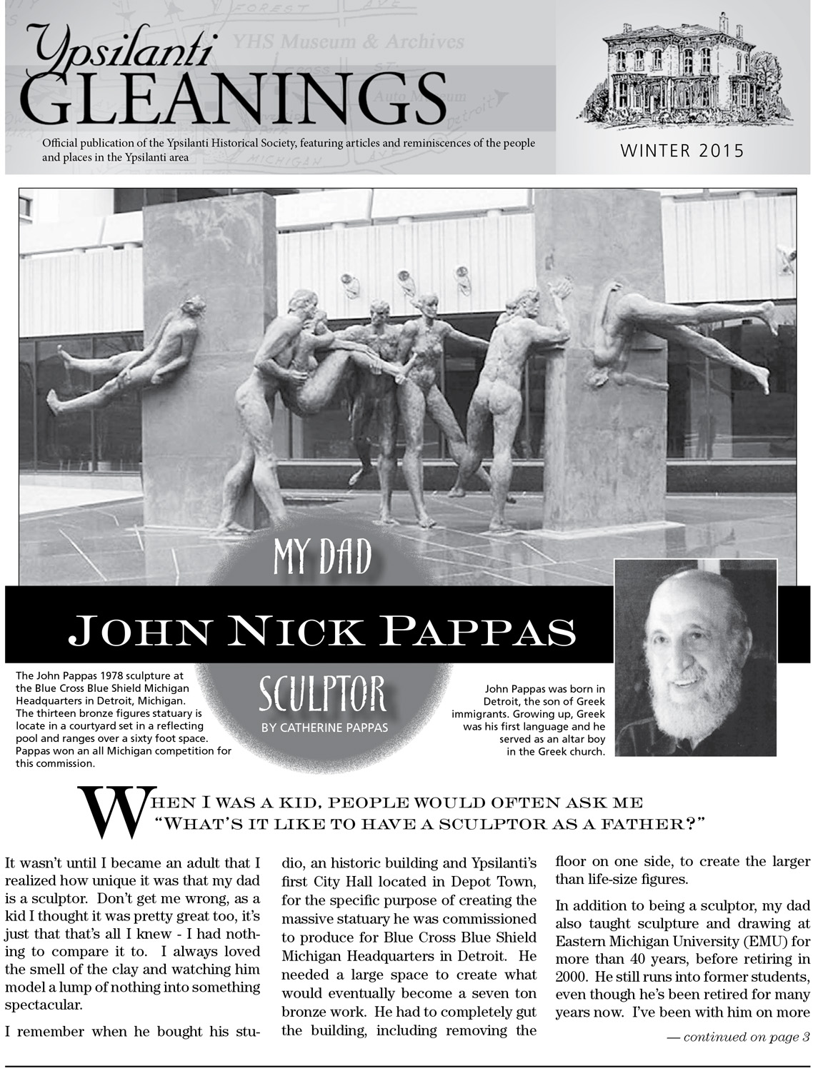 My Dad, John Nick Pappas, Sculptor  image