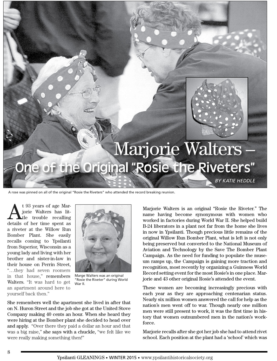 "Marjorie Walters – One of the Original ""Rosie the Riveters"" image"