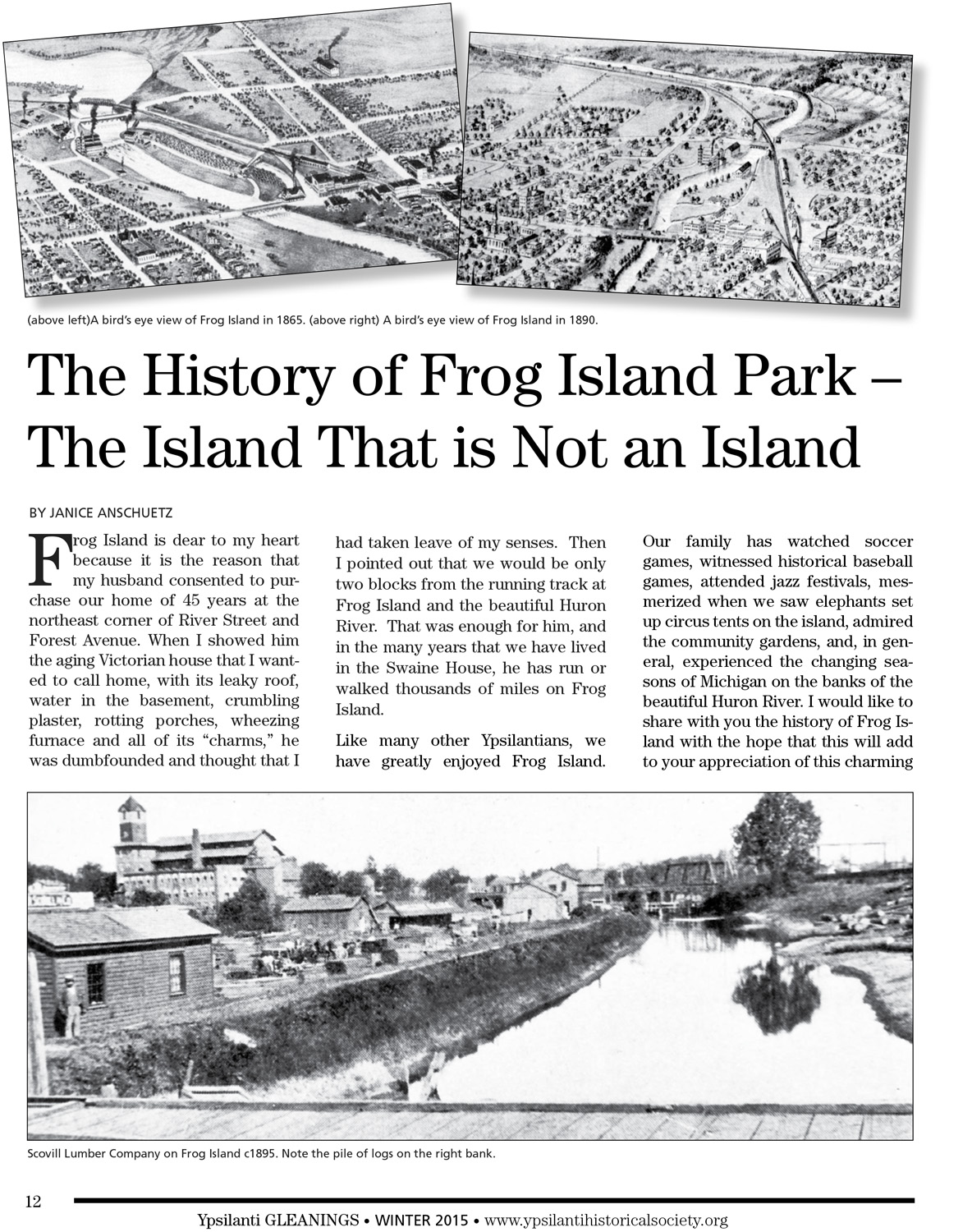 The History of Frog Island Park – The Island That is Not an Island image