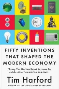 Promotional image for Martin Bandyke Under Covers: Martin talks to author Tim Harford about his new book Fifty Inventions That Shaped the Modern Economy podcast