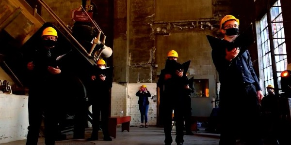 U-M Prof. Stephen Rush debuted a new choral work in the U.P.'s Quincy Mine.