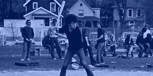 We found out where this photo was taken of the MC5 playing baseball in 1970.