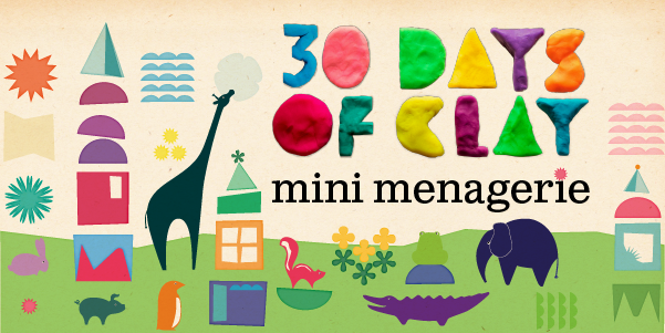 30 Days of Clay: Mini Menagerie