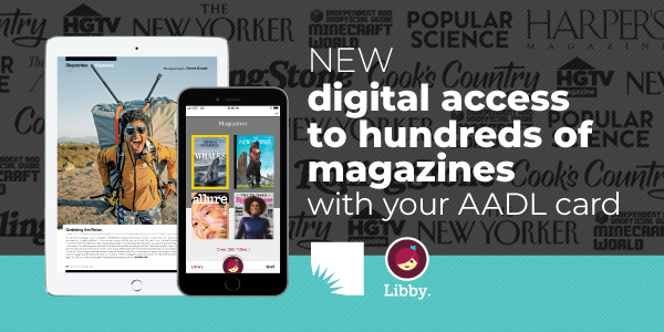 Read magazines online with Libby