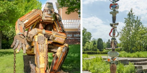 Two outdoor sculpture exhibits offer public art in Washtenaw County.